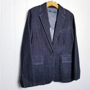Lauren Ralph Lauren Denim Blazer Jacket